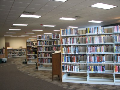The interior of the Warrensburg Branch Library.